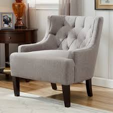 Tufted Accent Chairs Youll Love Wayfair - Wing chairs for living room