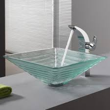 bathroom glass vessel sink set kraususa com