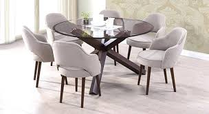 round kitchen table seats 6 glass round dining table for 6 best hygena savannah black glass