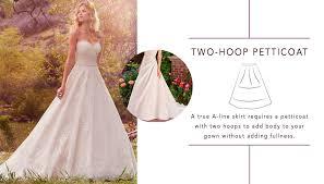 wedding dress hoops picking a petticoat