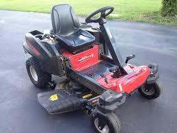 troy bilt mustang zero turn mower tools in action