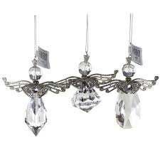 acrylic wing ornaments clear 4 1 4 inch