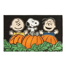 peanuts snoopy and friends halloween accent rug christmas tree