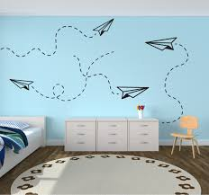 paper airplanes wall decal the decal guru
