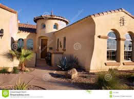 southwestern home southwestern homes southwestern style modern home stock photo