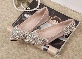 wedding shoes flats emejing flat wedding shoes with rhinestones images styles