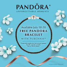 pandora jewelry retailers pandora free bracelet summer event be charming blog