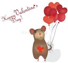happy s day mouse s day card st day with mouse and heart stock