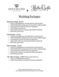 Photography Wedding Packages Wedding Packages Price List By Heidi Helser Photography Issuu