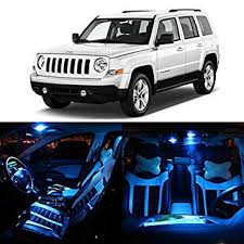 jeep patriot 2015 interior amazon com partsam 8pcs blue 2007 2015 jeep patriot led