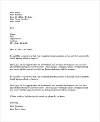 sample resignation letter 18 documents in pdf word
