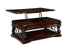 lift top cocktail table amazon com ashley furniture signature design alymere lift top