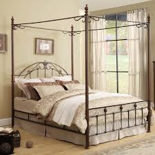 Iron Canopy Bed Newcastle Graceful Scroll Bronze Iron Canopy Poster Bed By Inspire