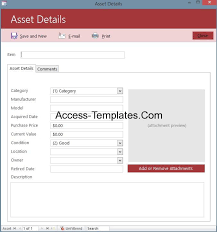 asset tracking and management system software for ms access