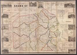 Washington County Pa Map by Ancestor Tracks Adams County Atlas 1858