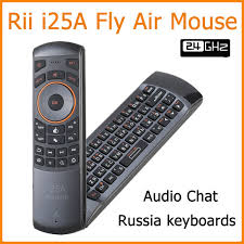android keyboard with microphone new arrival rii i25a 2 4g fly air mouse wireless russian keyboard