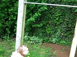 Backyard Pull Up Bar by Back Yard Pull Up System Youtube