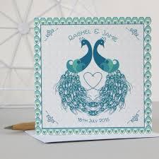 personalised deco inspired peacock wedding anniversary