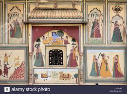 india rajasthan jaipur sisodia rani palace murals wall stock india rajasthan jaipur sisodia rani palace murals wall paintings