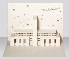 modern christmas cards tate modern pop up christmas card by paper