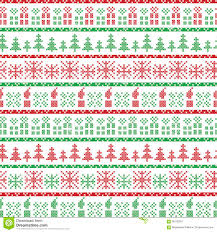 green and red christmas nordic pattern in including xmas gifts