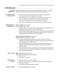 Resume Introduction Statement Marketing Resume Objectives Examples Resume Examples Objective