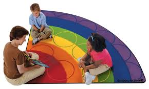 Kids Carpets Rainbow Rows Seating Rug Carpets For Kids