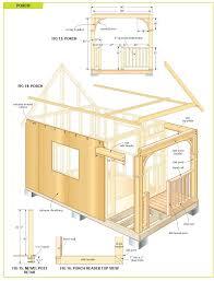 Cottage Blueprints Plans Cottage Shed Plans Cottage Shed Plans