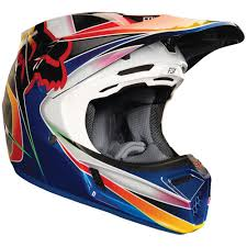 motocross helmets fox fox clothing v3 kustm motocross helmet multicolour demon tweeks
