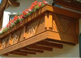 balkone holz holz classic longarone leeb balkone und zäune