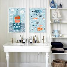 online buy wholesale fish quotes from china fish quotes cartoon fish ocean motivational typography quotes mediterranean poster nautical wall picture canvas painting home decor