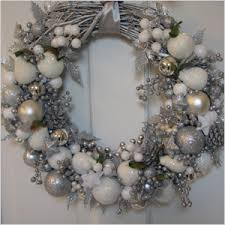 silver and white wreath holidays wreaths