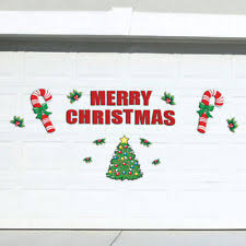 Christmas Decoration For Garage Door by Christmas Door Decoration Ebay