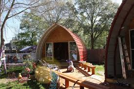Metal Barn Homes In Texas Prefabricated Arched Cabins Can Provide A Warm Home For Under