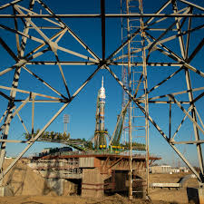 expedition 38 soyuz rolls out to launch pad nasa