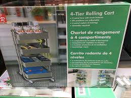costco ikea rolling utility cart costco is 4 tier and ikea is 3