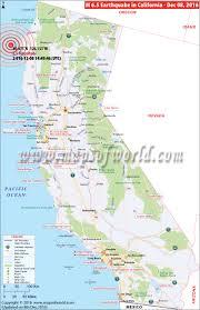 San Simeon Map California Earthquake Map Area Affected By Earthquake In California