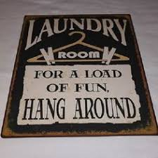 Laundry Room Pictures To Hang - laundry room sign fun hanging shabby vintage chic wooden plaque