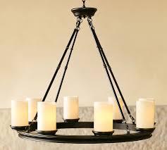 Candle Chandelier Lighting Veranda Chandelier Pottery Barn