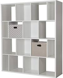 Bookcase With Baskets Big Deal On South Shore Reveal 16 Cube Shelving Unit With 2 Fabric