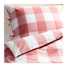 Red Gingham Duvet Cover Emmie Ruta Duvet Cover And Pillowcase S Pink White Duvet