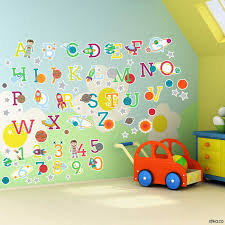 28 alphabet and number wall stickers animal alphabet and alphabet and number wall stickers space planets alphabet letters and numbers self adhesive