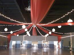 Ceiling Drapes With Fairy Lights Red Ceiling Drape With Lights Decoration Theme Ideas And