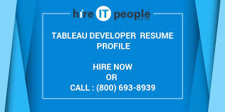 Tableau Resume Samples by Tableau Developer Resume Profile Hire It People We Get It Done