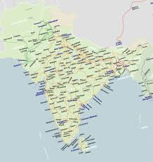 World Map Of India by Rail Map Of South Asia Johomaps
