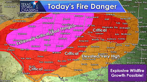 Weather Classic Map Dangerous Wildfire Outbreak Possible Today And Record High