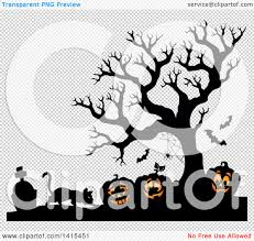 graveyard clipart clipart of a cat with lit jackolanterns in a cemetery with a