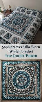 free crochet patterns for home decor free pdf pattern sophie loves lilla bjorn winter blanket crochet