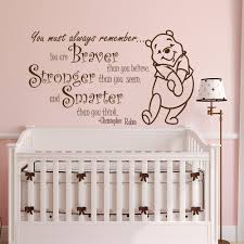 popular baby rooms nursery buy cheap baby rooms nursery lots from winnie the pooh quote wall sticker vinyl sticker decals quotes braver stronger smarter wall decor nursery