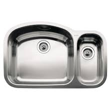 home depot double stainless steel sink blanco wave undermount stainless steel 32 in 1 1 2 double bowl